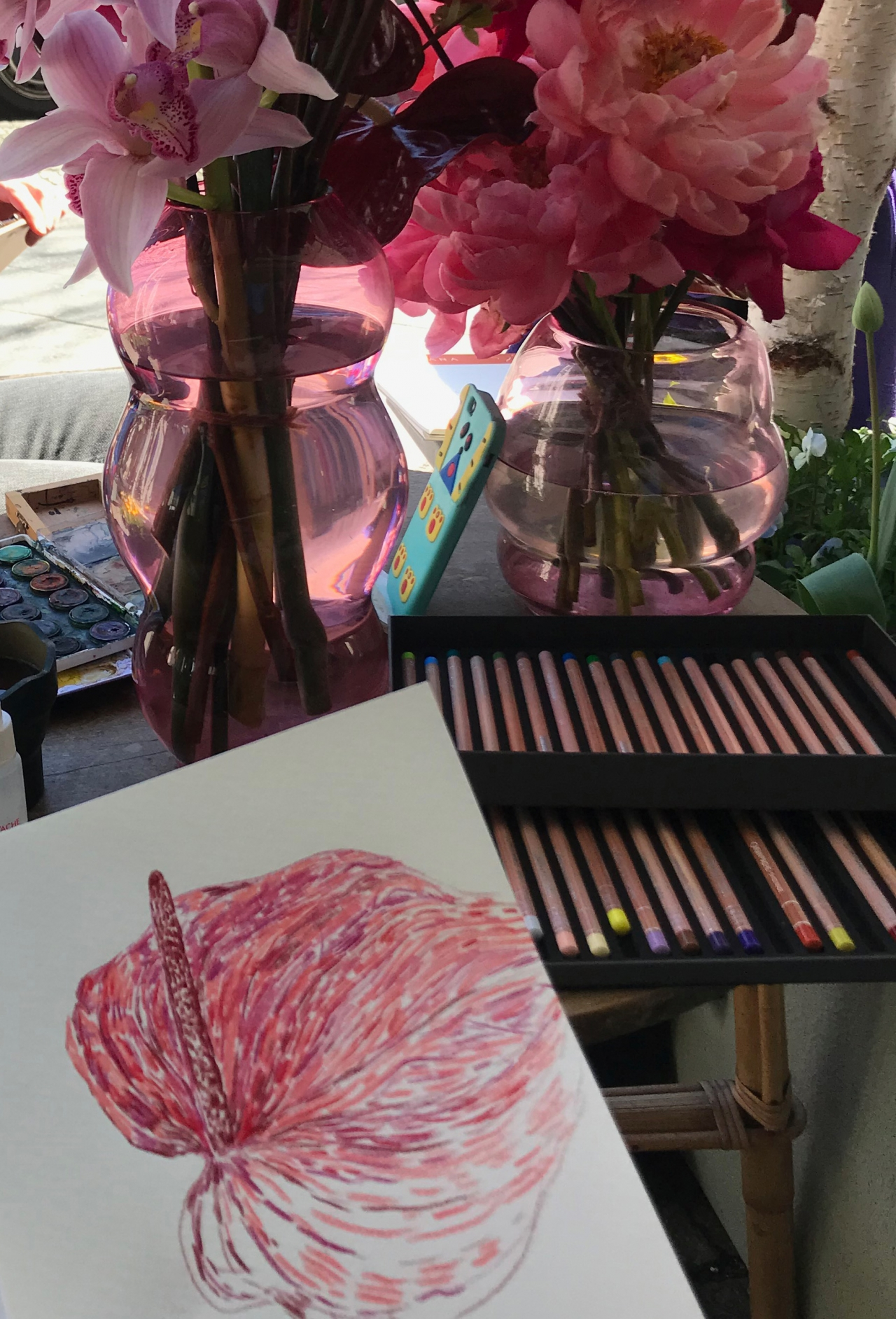 Flower Drawing Session at Mariano Berlin